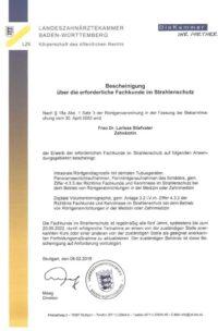 Zahnaerztin Larissa Stiefvater verfügt über ein DVT-Zertifikat